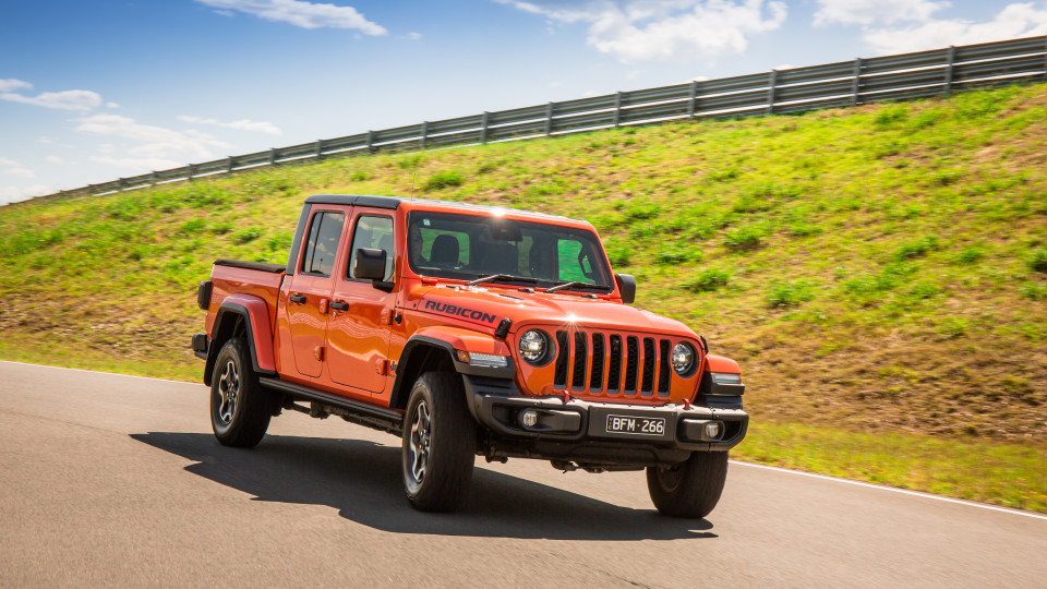 Drive Car of the Year Best Off-Road SUV 2021 finalist Jeep Gladiator Rubicon Jeep driven on road
