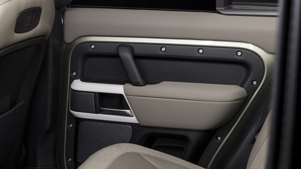 Drive Car of the Year Best Off-Road SUV 2021 finalist Land Rover Defender door interior view