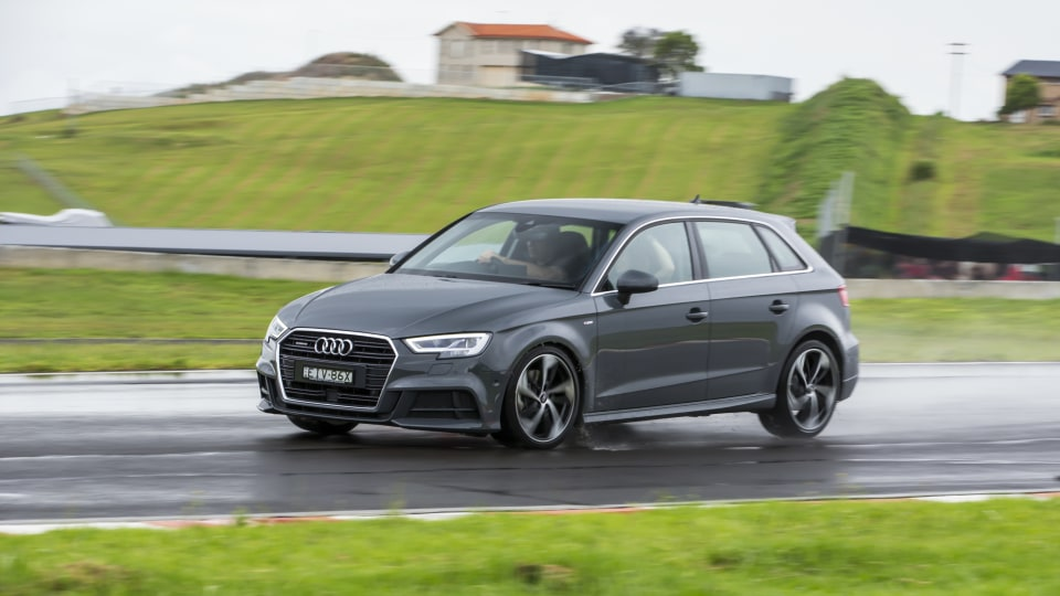 Drive Car of the Year Best Small Luxury Car 2021 finalist Audi A3 on road circuit