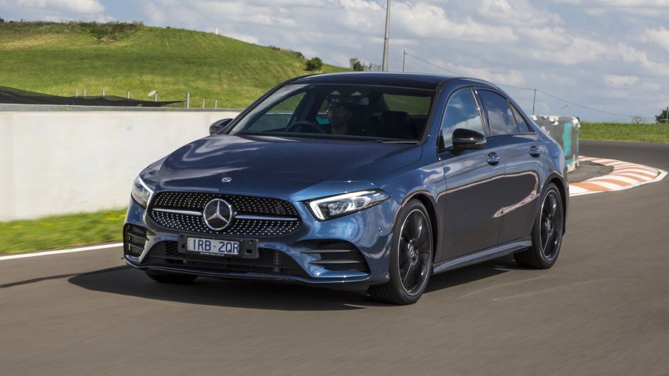 Drive Car of the Year Best Small Luxury Car 2021 finalist Mercedes-Benz A Class front exterior view