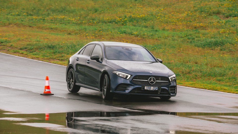 Drive Car of the Year Best Small Luxury Car 2021 finalist Mercedes-Benz A Class driven on road