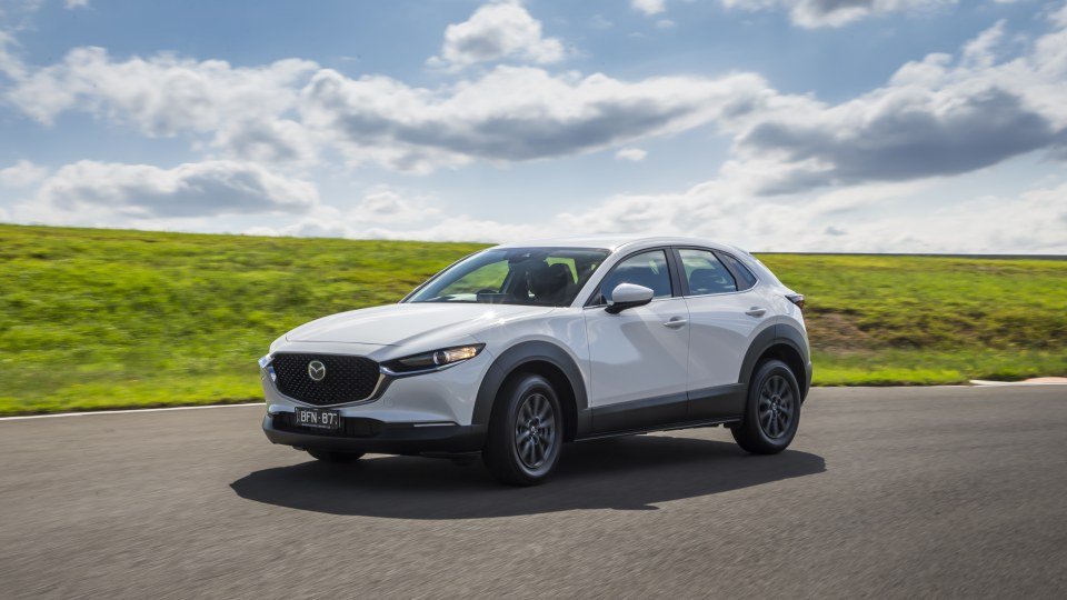 Drive Car of the Year Best Small SUV 2021 finalist Mazda CX-30 front left exterior view