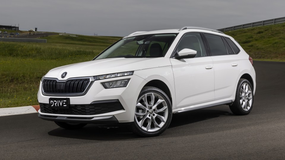 Drive Car of the Year Best Small SUV 2021 finalist Skoda Kamiq front exterior view.