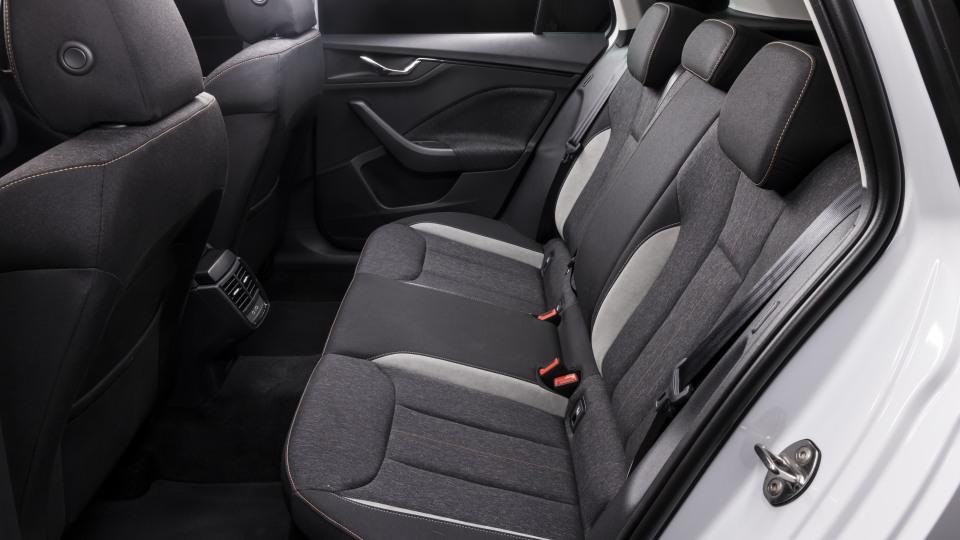 Drive Car of the Year Best Small SUV 2021 finalist Skoda Kamiq interior rear seating.