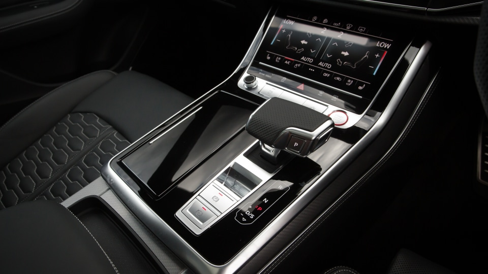 Drive Car of the Year Sports Performance SUV 2021 finalist Audi RSQ8 gear stick