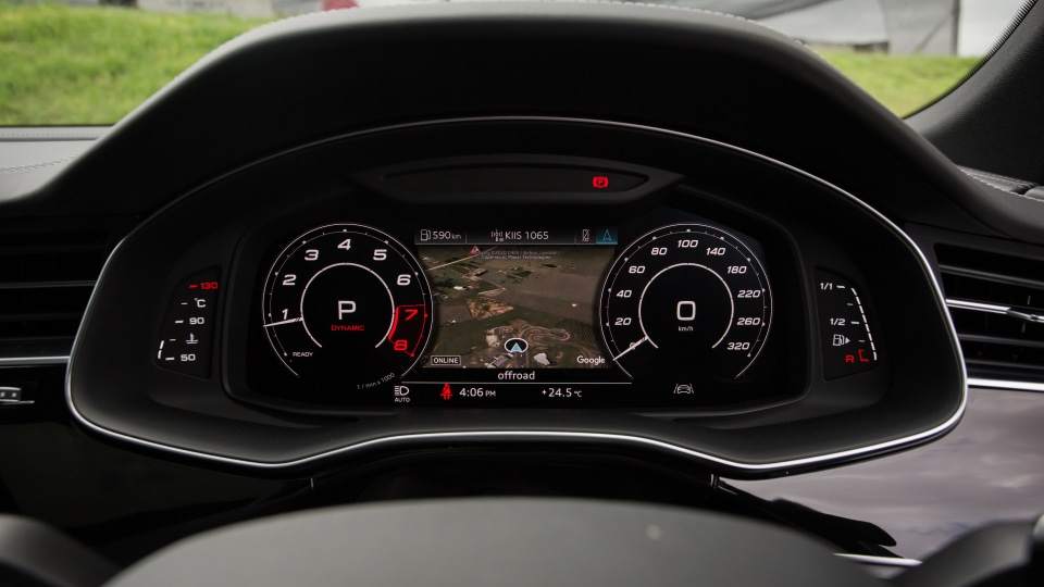 Drive Car of the Year Sports Performance SUV 2021 finalist Audi RSQ8 odometer.
