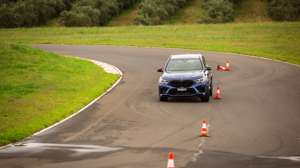 Drive Car of the Year Sports Performance SUV 2021 finalist BMW X5 driven on road circuit