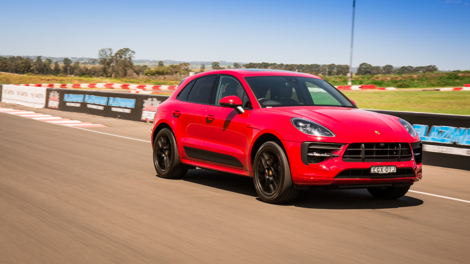 Drive Car of the Year Sports Performance SUV 2021 finalist Porsche Macan driven on road