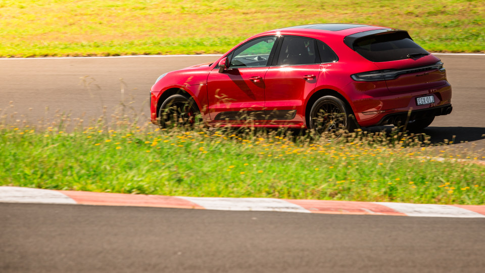 Drive Car of the Year Sports Performance SUV 2021 finalist Porsche Macan GTS driven on road circuit