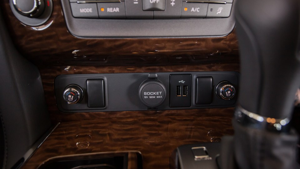 Drive Car of the Year Best Upper Large SUV 2021 finalist Nissan Patrol front interior close-up