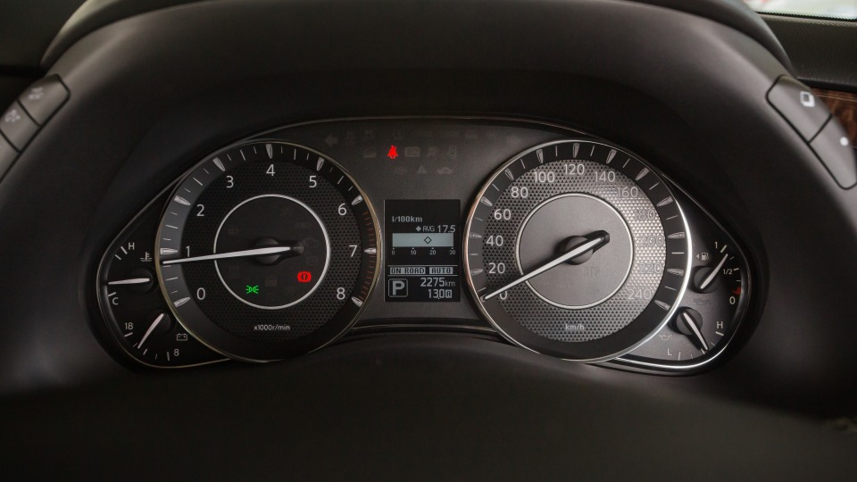 Drive Car of the Year Best Upper Large SUV 2021 finalist Nissan Patrol odometer
