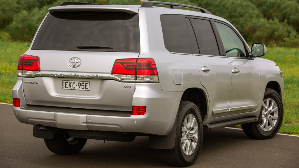 Drive Car of the Year Best Upper Large SUV 2021 finalist Toyota Landcruiser rear exterior view