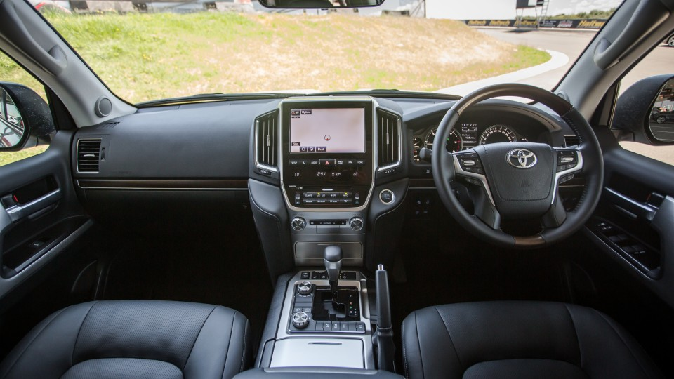 Drive Car of the Year Best Upper Large SUV 2021 finalist Toyota Landcruiser front interior seating view