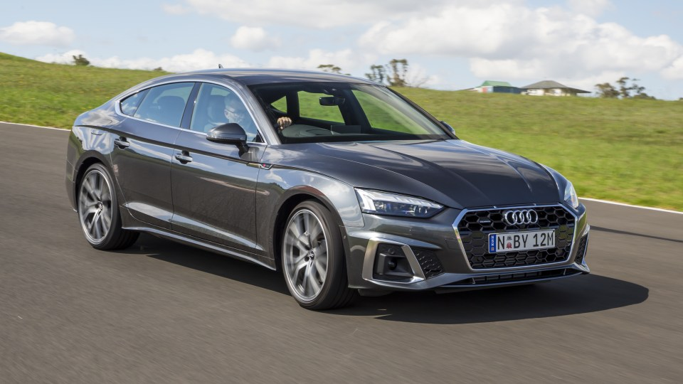 Drive Car of the Year Best Medium Luxury Car 2021 finalist Audi A5 front exterior view