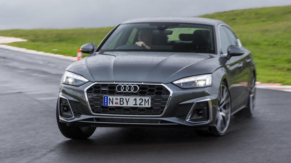 Drive Car of the Year Best Medium Luxury Car 2021 finalist Audi A5 front exterior close up