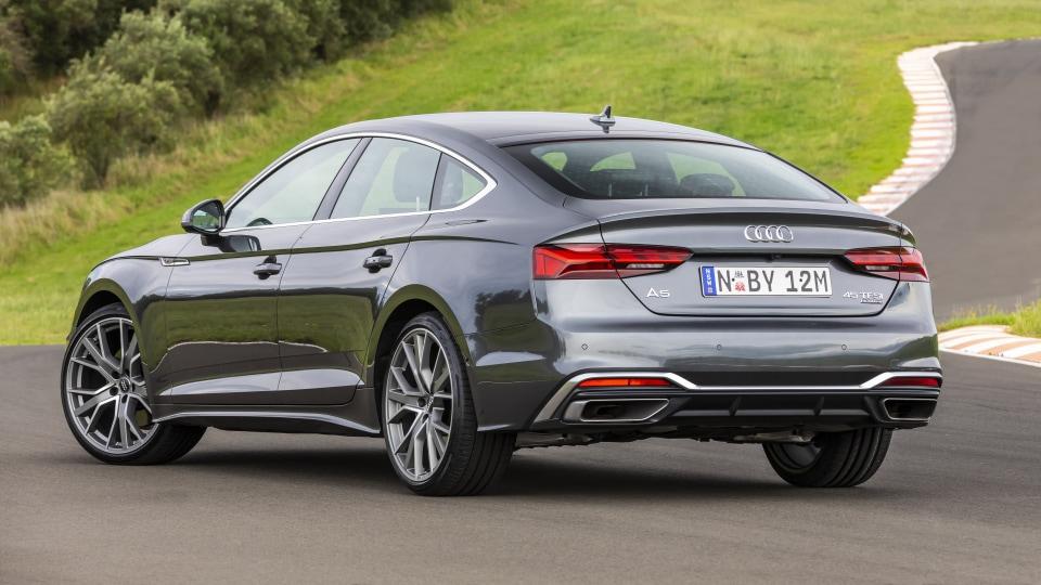 Drive Car of the Year Best Medium Luxury Car 2021 finalist Audi A5 exterior rear view