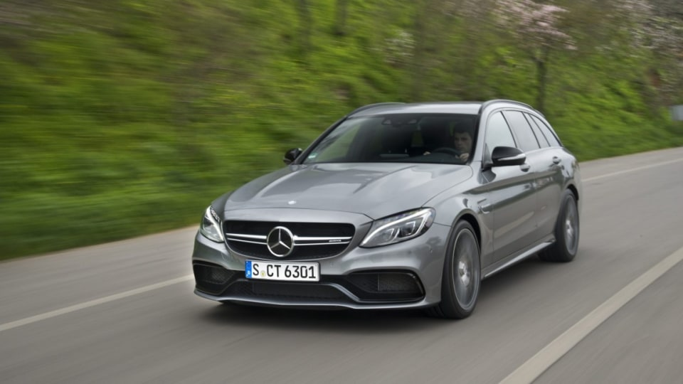 New Mercedes-AMG C63 Estate offers wagon practicality as well as blistering performance.