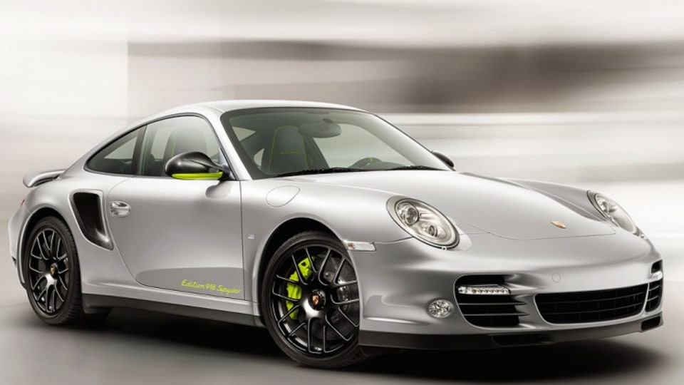 911 Turbo S 'Edition 918 Spyder' coupe.