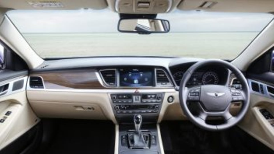The Hyundai Genesis offers a feature packed and spacious cabin.