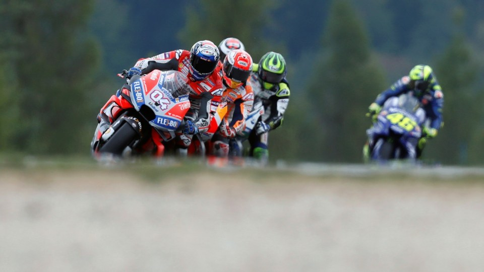 Andrea Dovizioso on his way to winning the Czech GP.