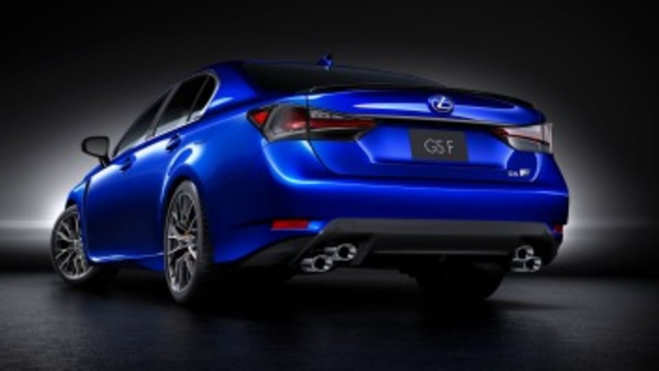 The GS F is powered by a 348kW 5.0-litre V8.