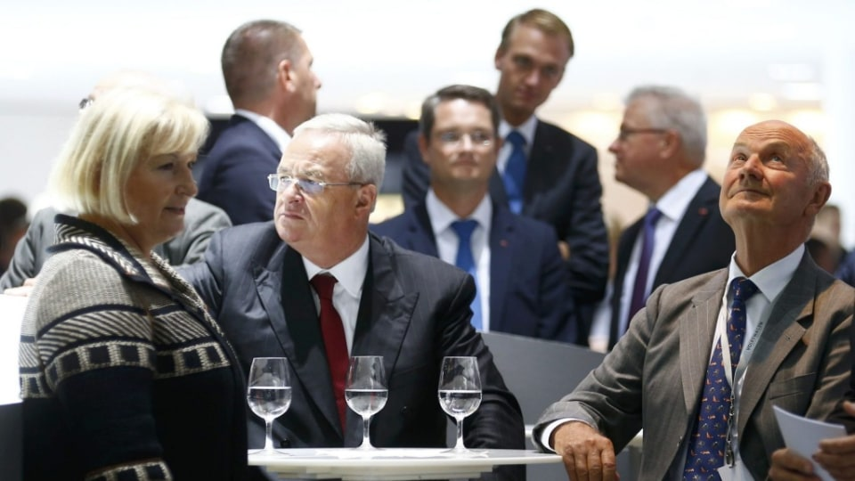 Ferdinand Piech (right) has been outed as VW Group boss by Martin Winterkorn (centre).