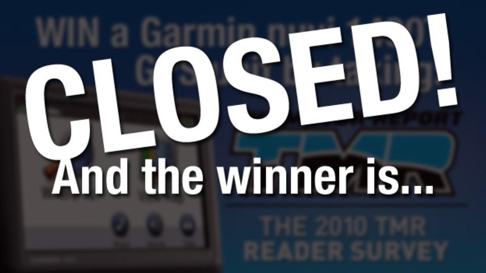 2010 TMR Reader Survey Competition: Winner Drawn