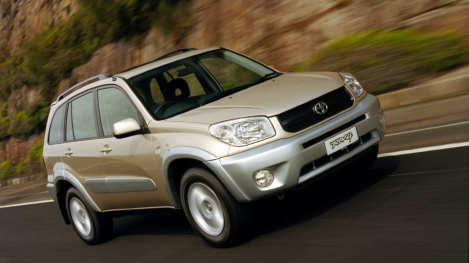 Police said a woman was driving a Toyota RAV4 when she was hurt by its airbag.
