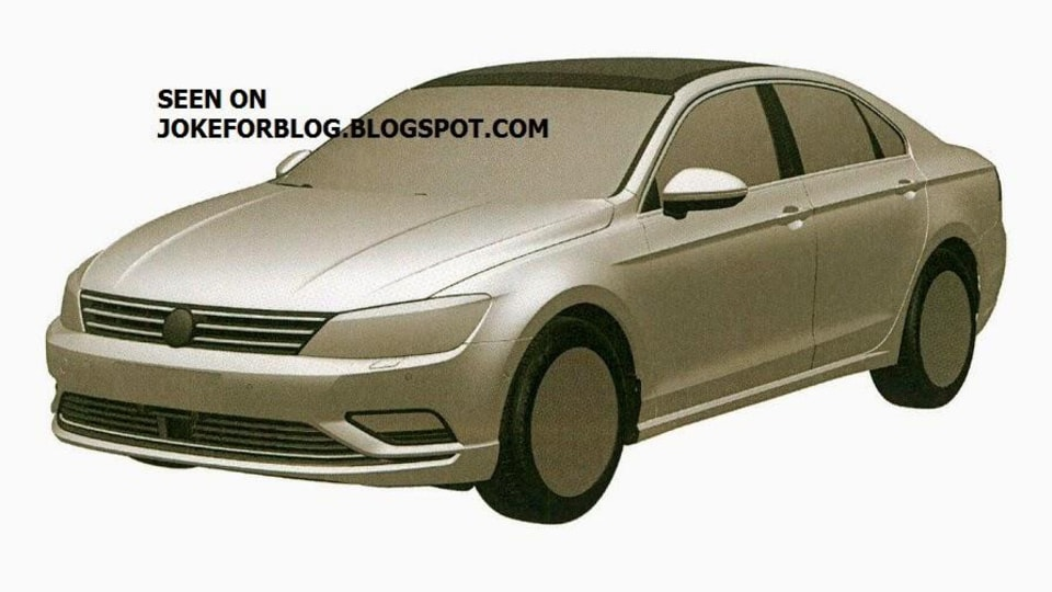 Volkswagen New Midsized Coupe Revealed Further In New Patent Images