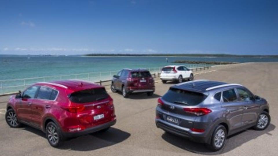 Mid-size SUV comparison: Kia Sportage, Hyundai Tucson, Honda CR-V, Toyota RAV4
