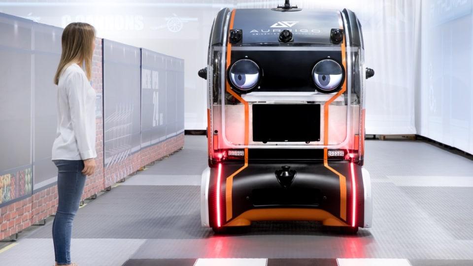 Self-driving cars that eye pedestrians