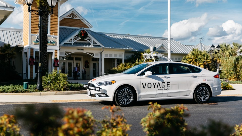 Voyage self-driving taxis