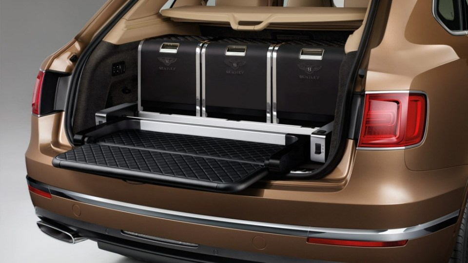 2015 Bentley Bentayga features an optional Event seat