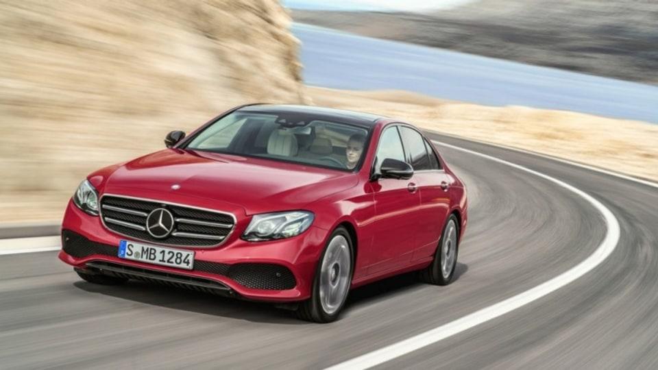 The new Mercedes-Benz E-Class can steer itself around hazardous obstacles.