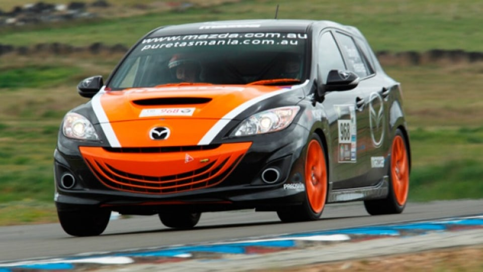 The Mazda3 MPS that won its class in the 2010 Targa Tasmania rally has more power from its turbocharged four-cylinder as well as sticky tyres.