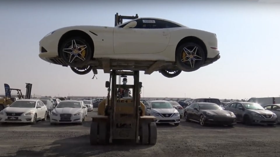 Million-dollar scrapyard: final resting place for supercars in Dubai
