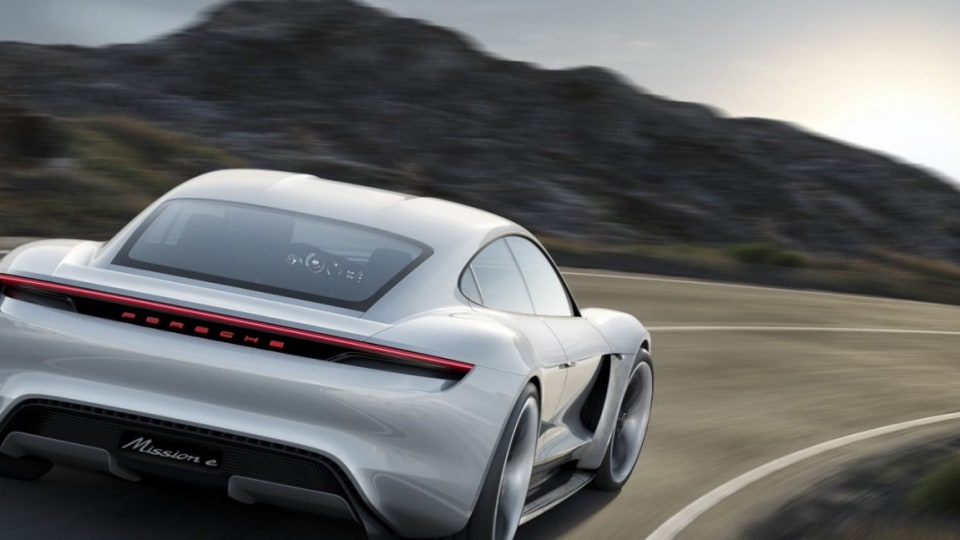 Porsche has unveiled its spectacular new 600bhp plus electric-powered Mission E concept car.