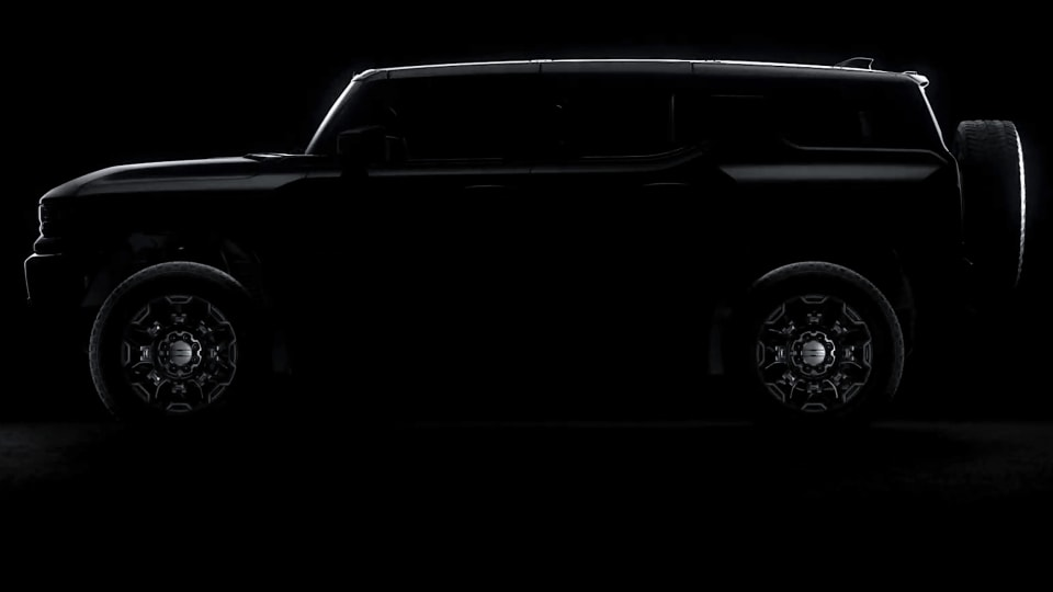 2022 GMC Hummer EV electric SUV teased ahead of next week's reveal