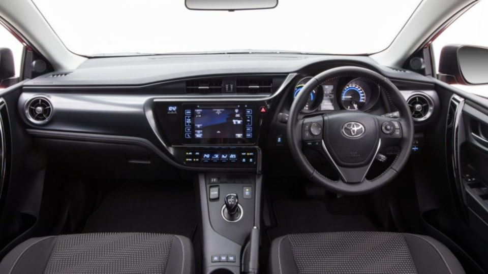 2016 Toyota Corolla Hybrid interior.