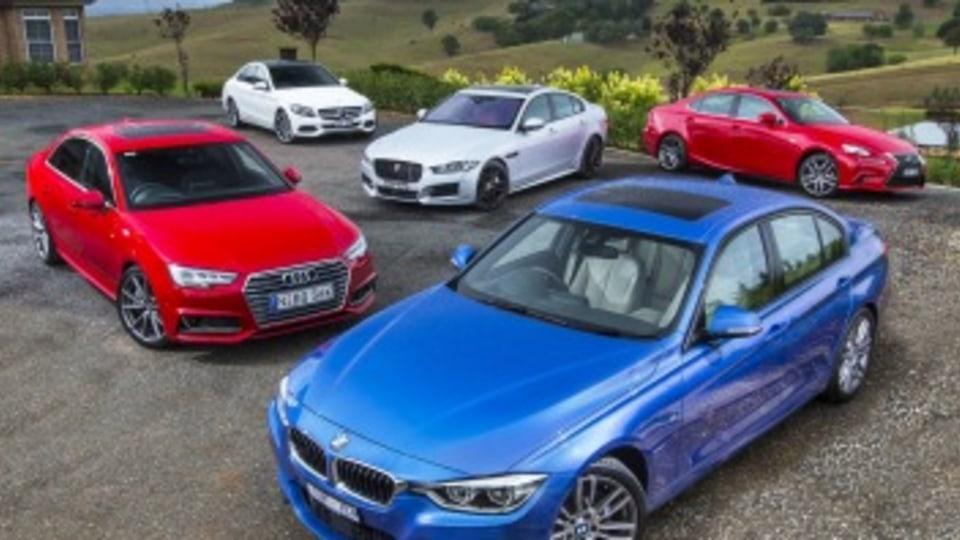 Mid-size luxury comparison test: Audi A4, Mercedes-Benz C-Class, Lexus IS, BMW 3-Series, Jaguar XE