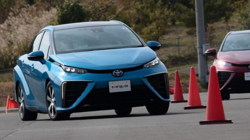 2015 Toyota Mirai hydrogen fuel cell vehicle.
