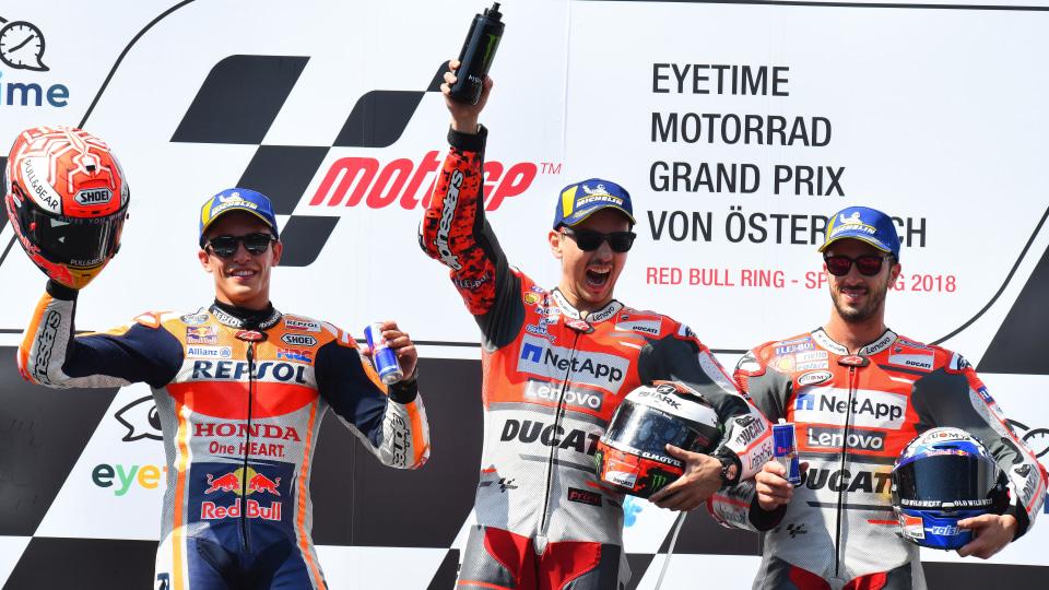 Austrian MotoGP podium.