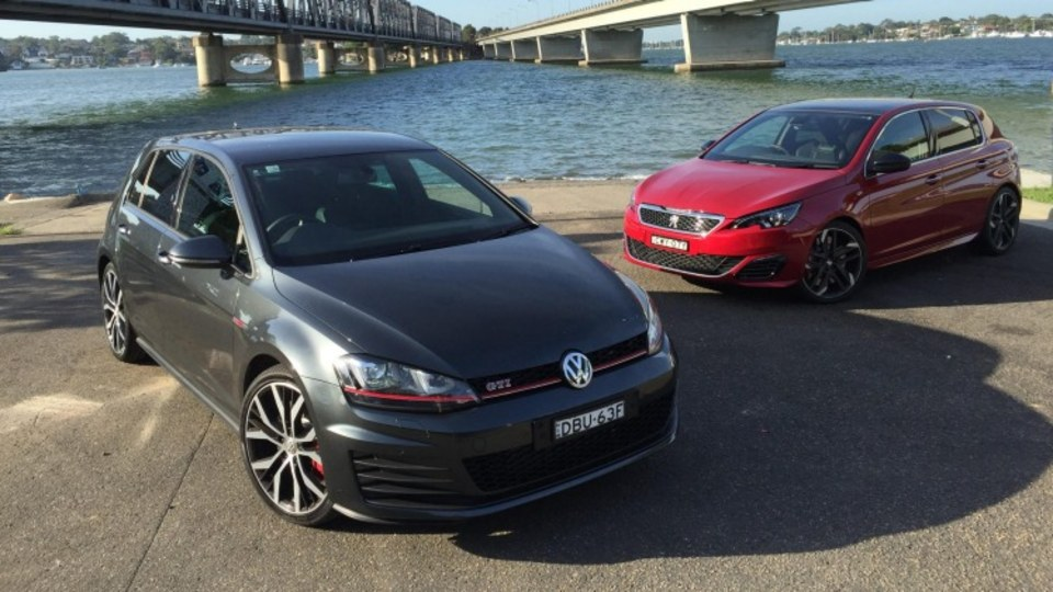 Volkswagen Golf GTI Performance and Peugeot 308 GTI 270.