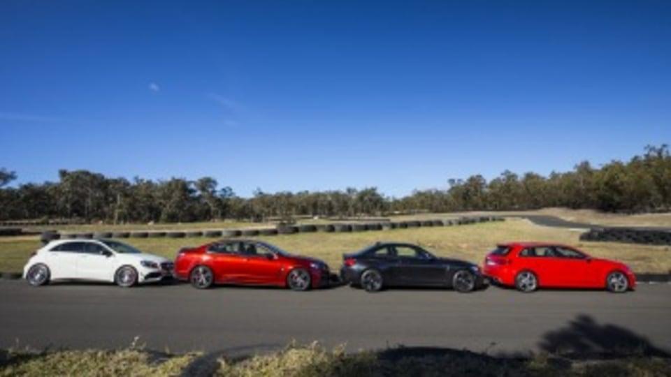 BMW M2, Audi RS3 Sportback, Mercedes-AMG A45, HSV ClubSport comparison