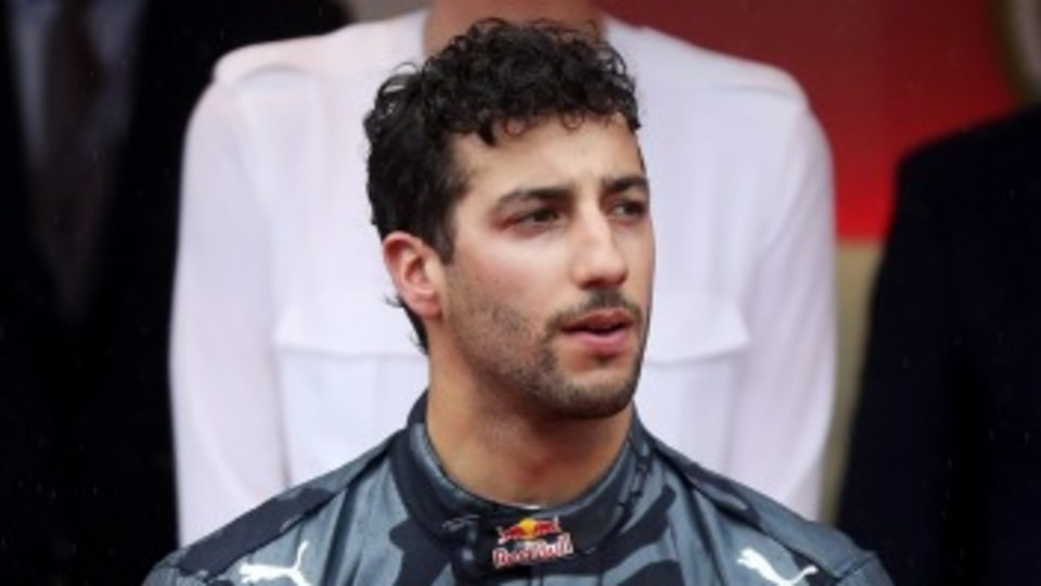 Daniel Ricciardo ditched his trademark smile on the podium during the Monaco Grand Prix after losing a near-certain victory.