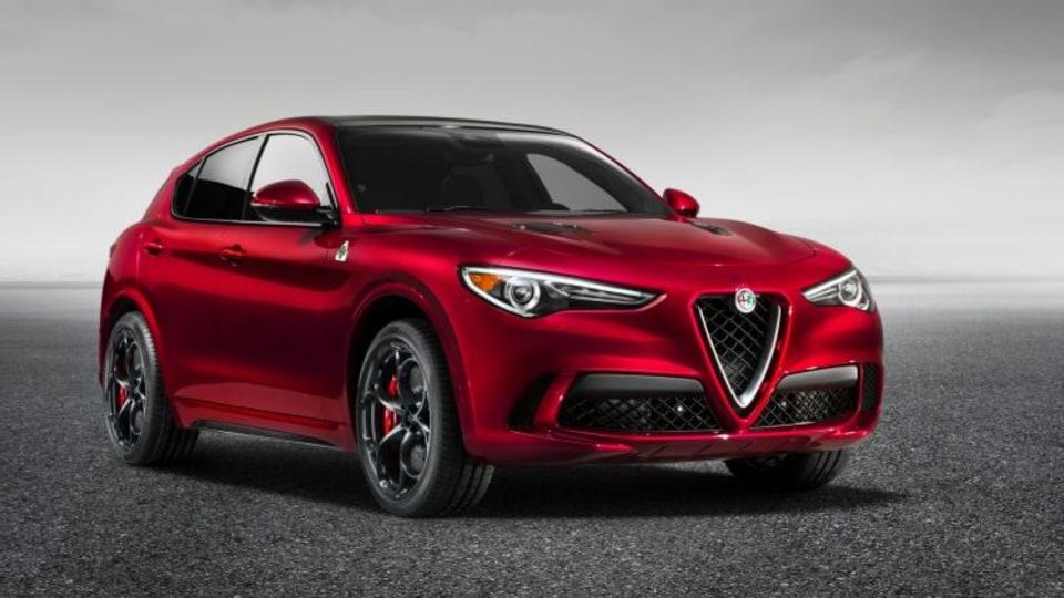 2018 Alfa Romeo Stelvio Quadrifoglio is the brand's first SUV in the brand's history.