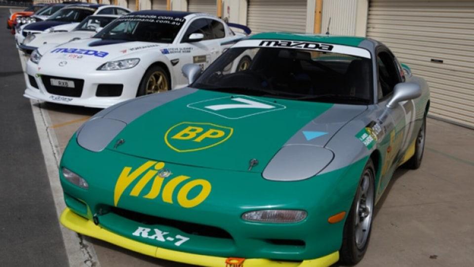 Mazda RX-7 race car that won the 1993 and 1994 Bathurst endurance production car races.