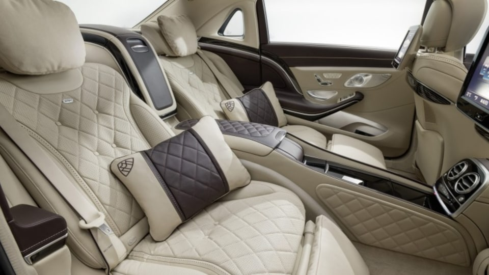The Maybach's rear seat space is an opulent area.