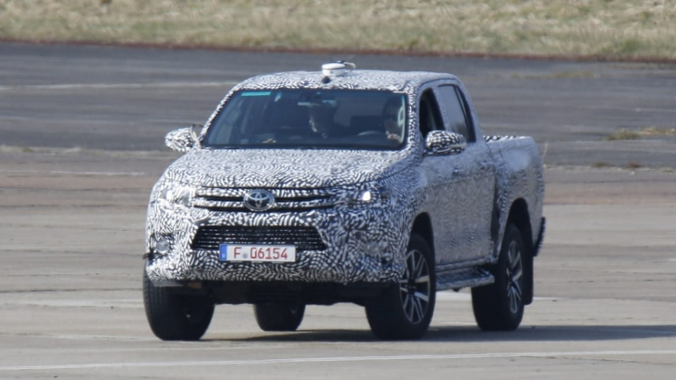 Spy photographers have snapped the new Toyota HiLux undergoing testing.