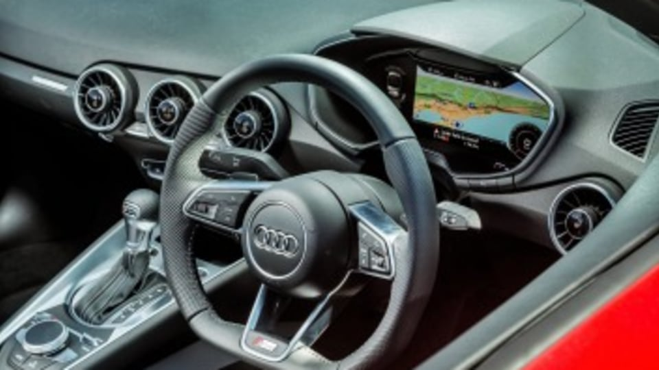 The Audi TT Roadster, stylish on the inside too.
